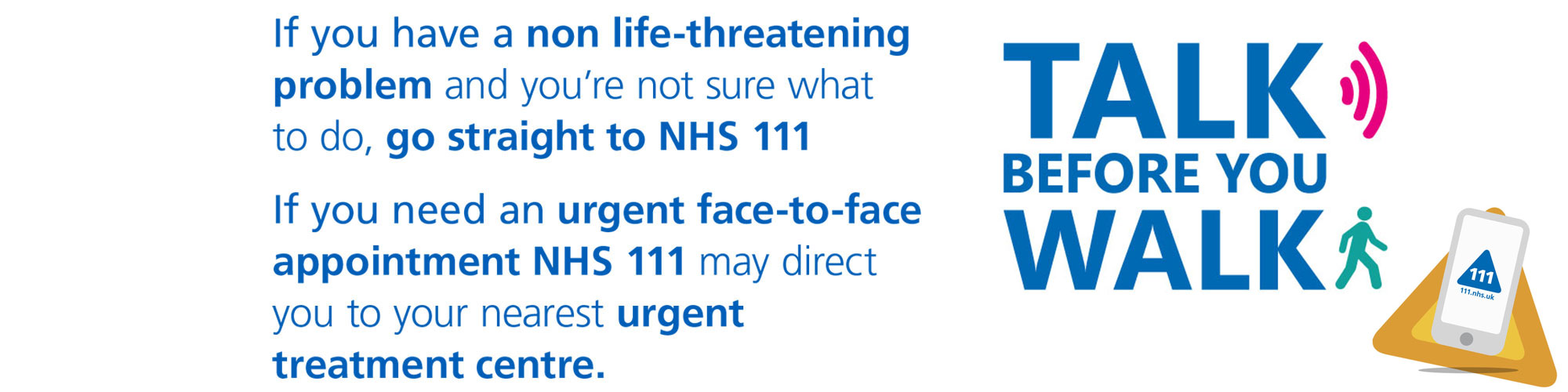 Click on this image to visit NHS111 online